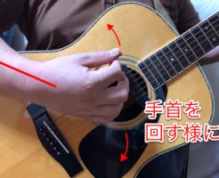 ギターピッキング奏法 右手の使い方正面からの写真