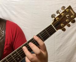ギターパワーコード奏法 左手の押さえ方写真